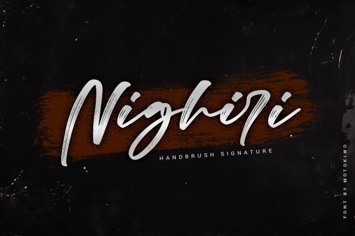 Nighiri Font poster
