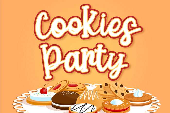 Cookies Party Font poster