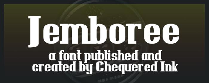Jemboree Font poster