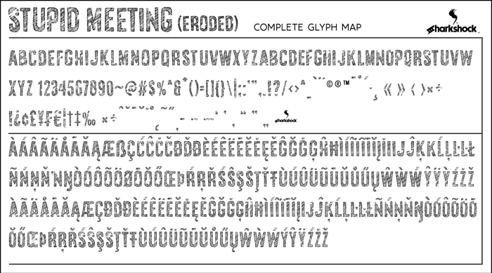 Stupid Meeting Font poster