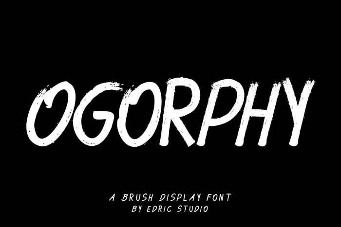 Ogorphy Font poster