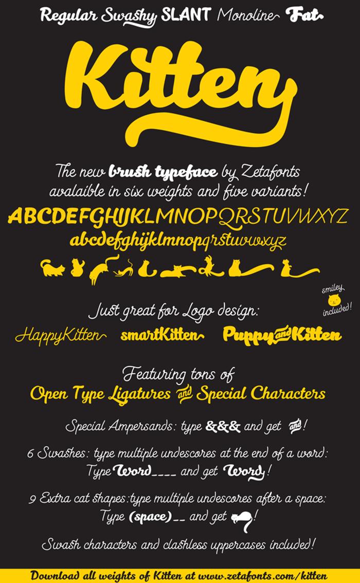Kitten Font poster
