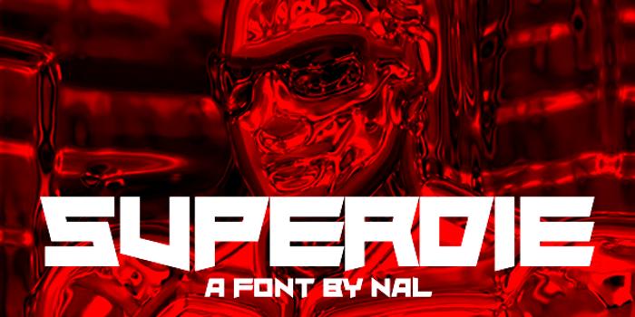 Superdie Font poster