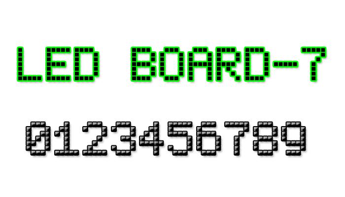 LED Board-7 Font poster