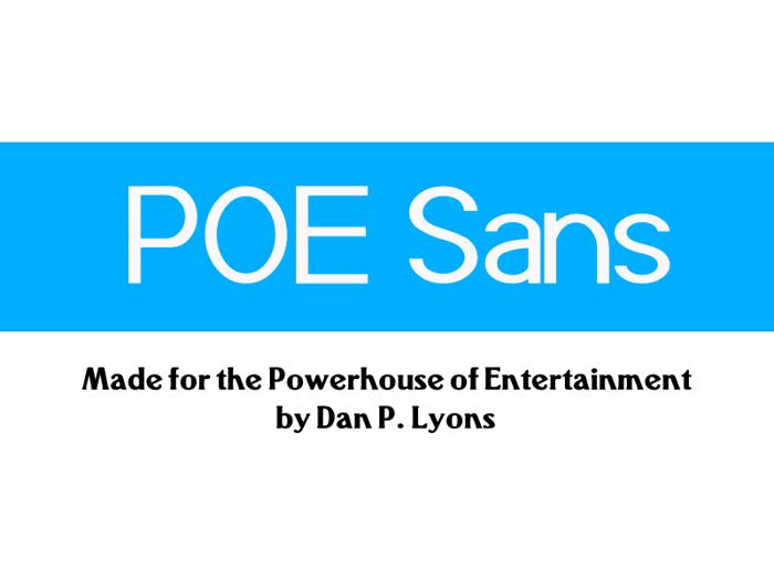 POE Sans (Demo) Font poster