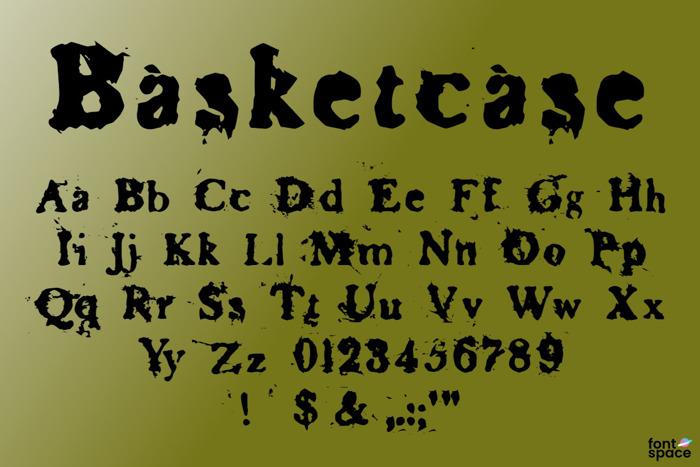 Basketcase Font poster