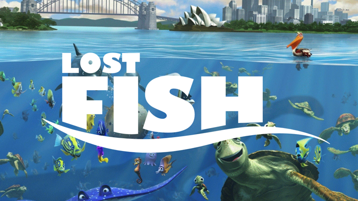 Lost Fish Font poster