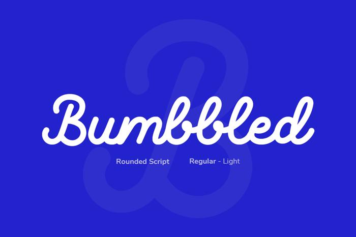 Bumbbled - Light Font poster