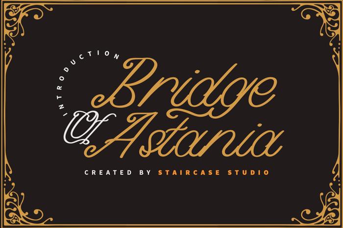 Bridge of Astania Font poster