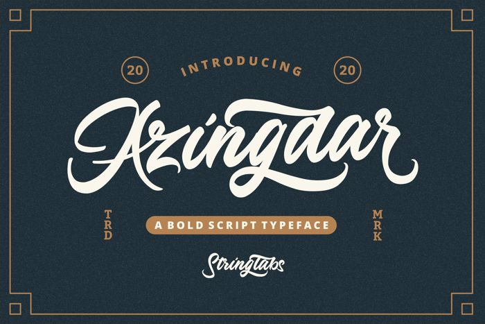 Azingdar Font poster