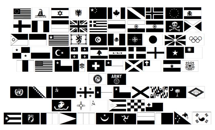 Raise Your Flag Font poster