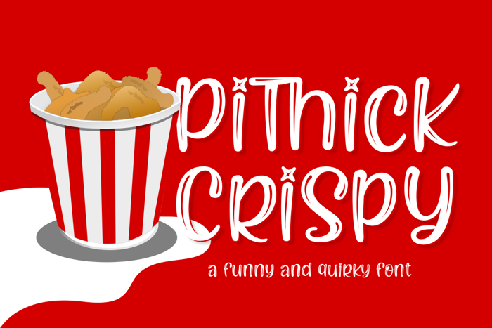 Pithick Crispy Font poster