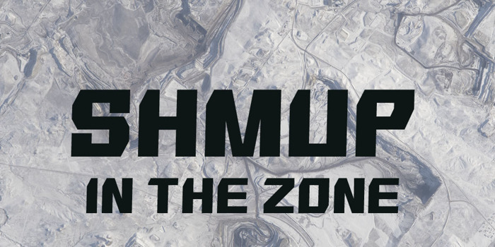 SHMUP in the zone Font poster