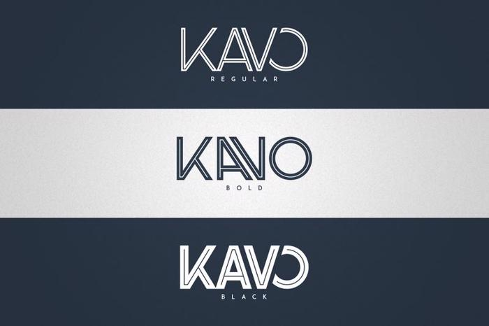 Kavo Inline Font poster