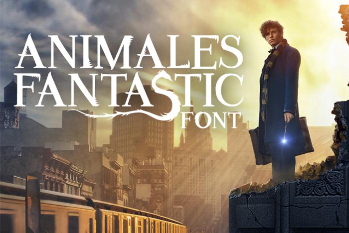 Animales Fantastic Font poster