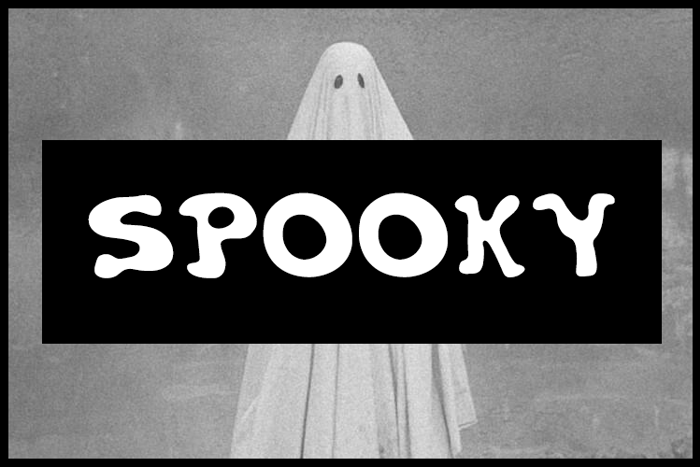 Spooky Font poster