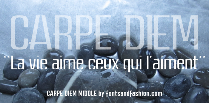 CARPE DIEM MIDDLE demo Font poster