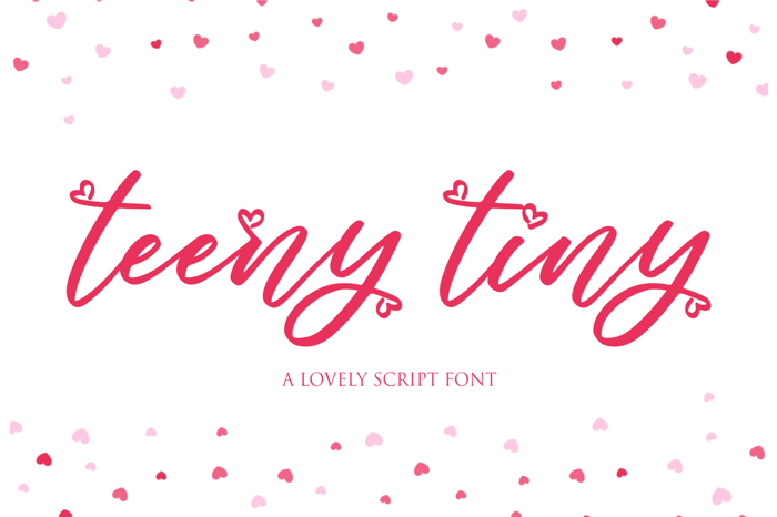 teeny tiny Font poster