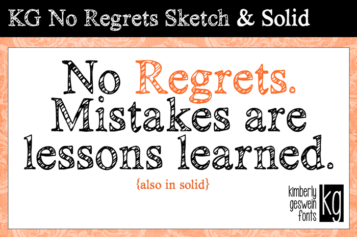KG No Regrets Font