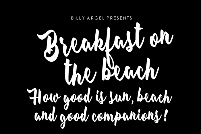 Breakfast on the beach Font poster