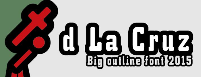 d La Cruz Font poster