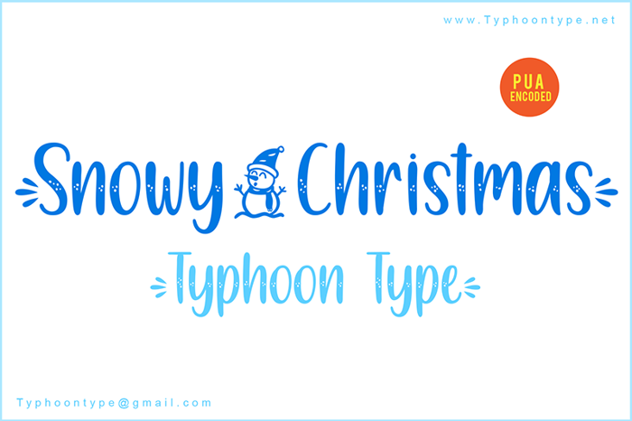 Snowy Christmas Font poster