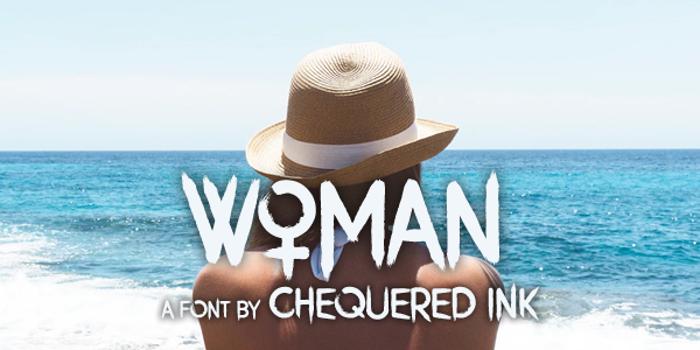 Woman Font poster