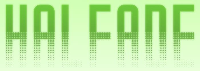 Halfade Font poster