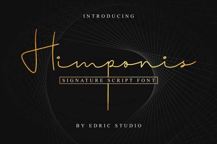 Himponis Font poster