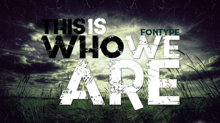 This is who we are Font poster