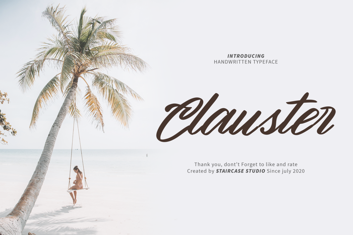 Clauster Font poster