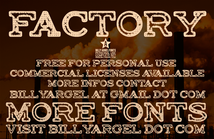 FACTORY Font poster