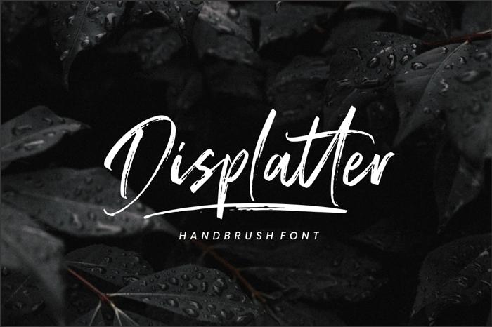 Displatter Font poster
