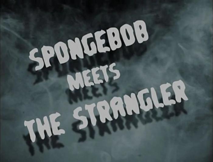 Spongeboy kontra Dusiciel Font poster