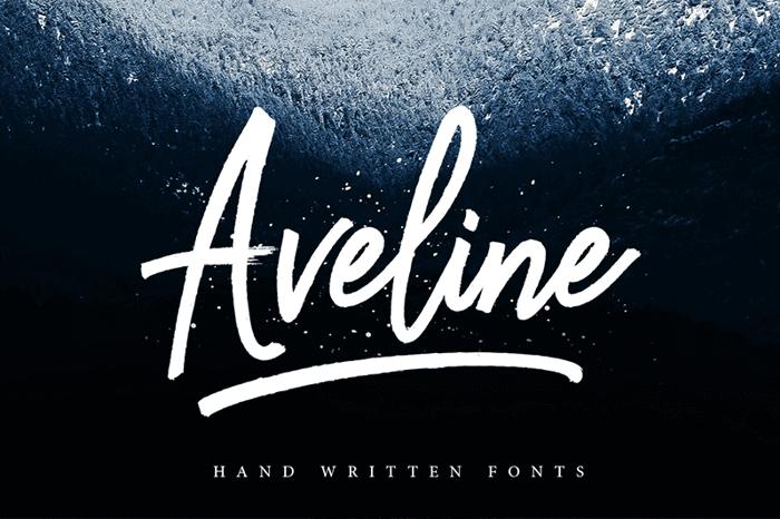 Aveline Script Font poster