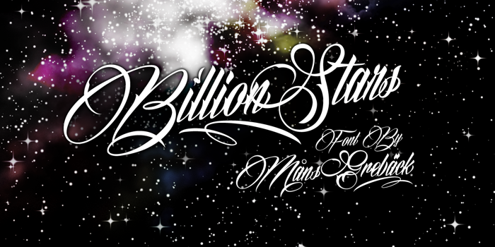 Billion Stars Font poster
