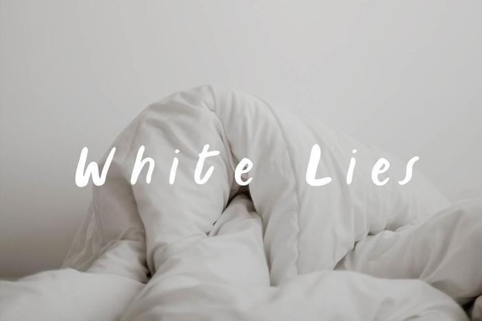 White Lies Font poster