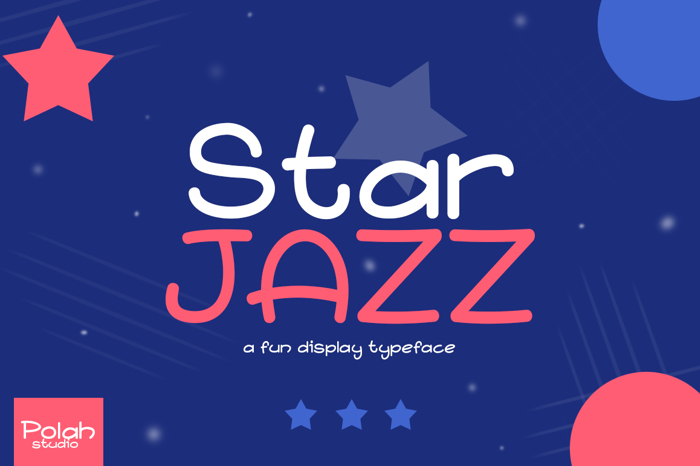 Star Jazz Font poster