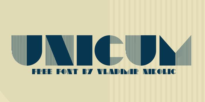 Unicum Font poster