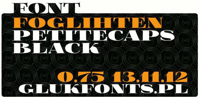 FoglihtenBPS01 Font poster