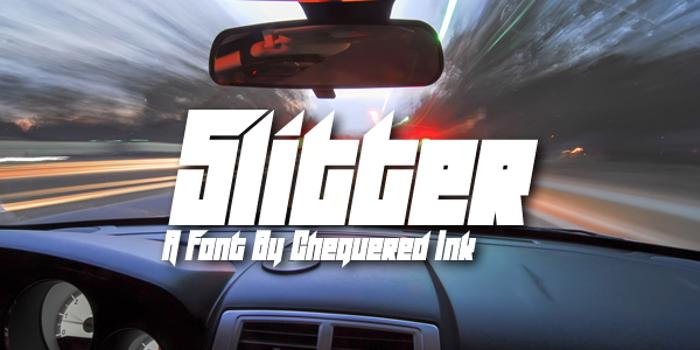 Slitter Font poster