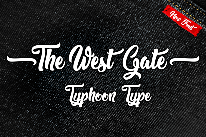 The West Gate Font poster