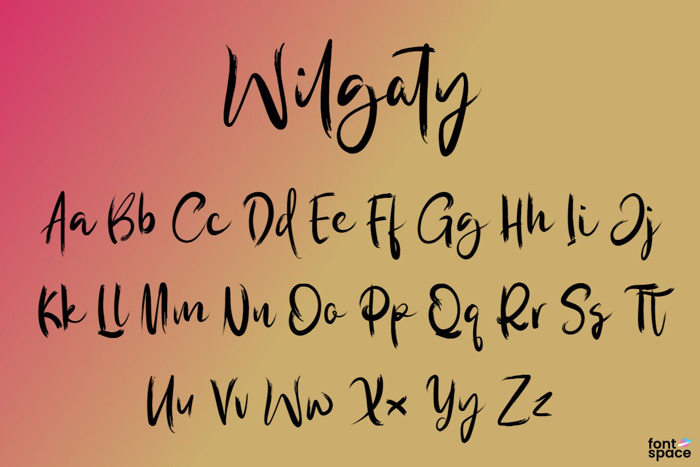 Wilgaty Pen Font poster