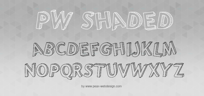 PWShaded Font poster