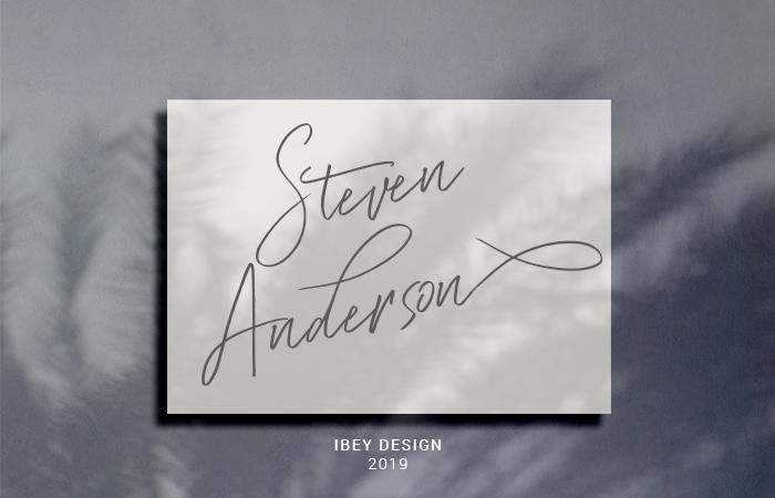Steven Anderson Font poster