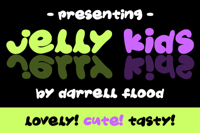 Jelly Kids Font poster