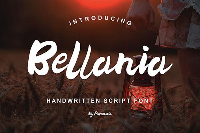 Bellania Font poster