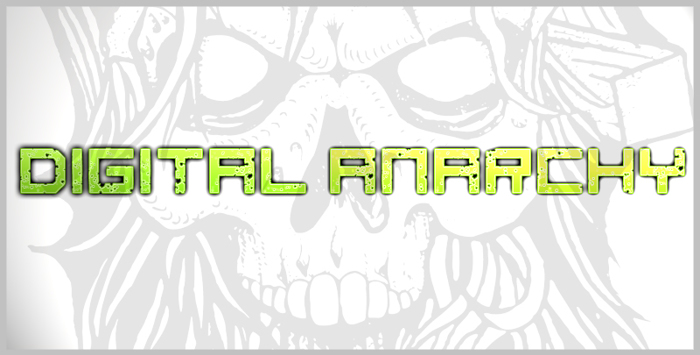 digital anarchy Font poster