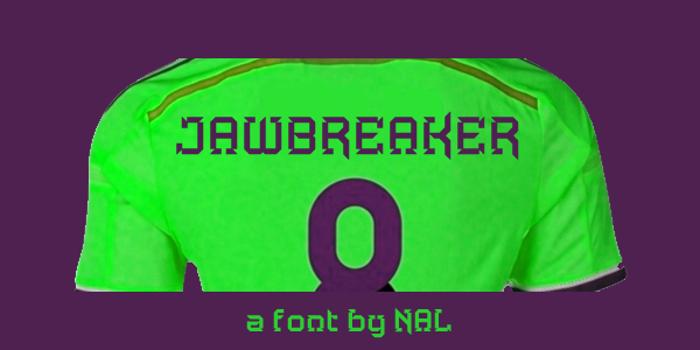 Jawbreaker Font poster