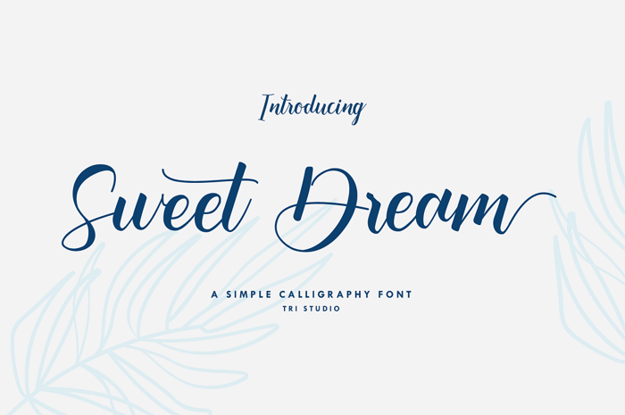 Sweet Dream Font poster